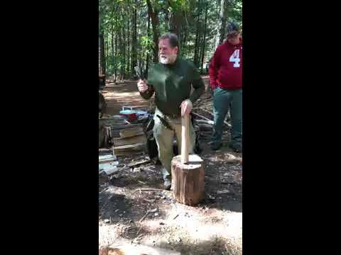 James Gibson Carving Axe in Use