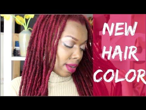 NEW HAIR COLOR... FUCHSIA | LOC DYE Q&A