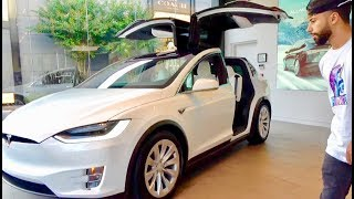 MY NEW CAR!! TESLA MODEL X!!