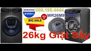 Máy giặt Samsung 26kg FlexWash WR26M9960KV - Giảm giá 50% - 098.198.4444 - Điện Máy Tân Long