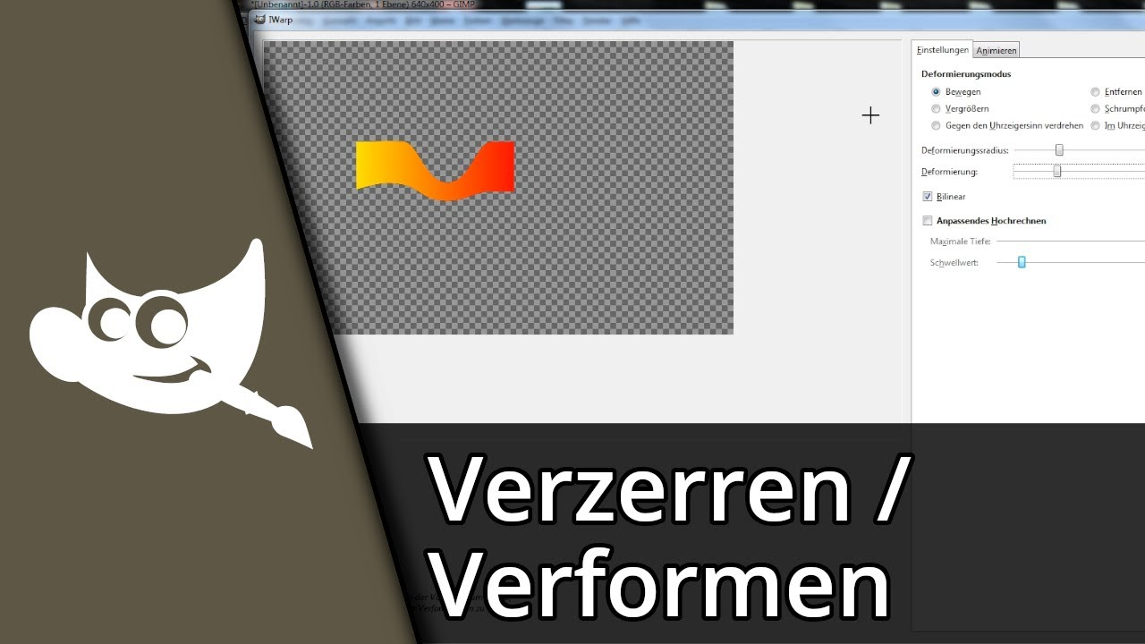 Gimp Gebogener Text Gimp 2 8 Tutorial Verformen Verzerren Deutsch Hd