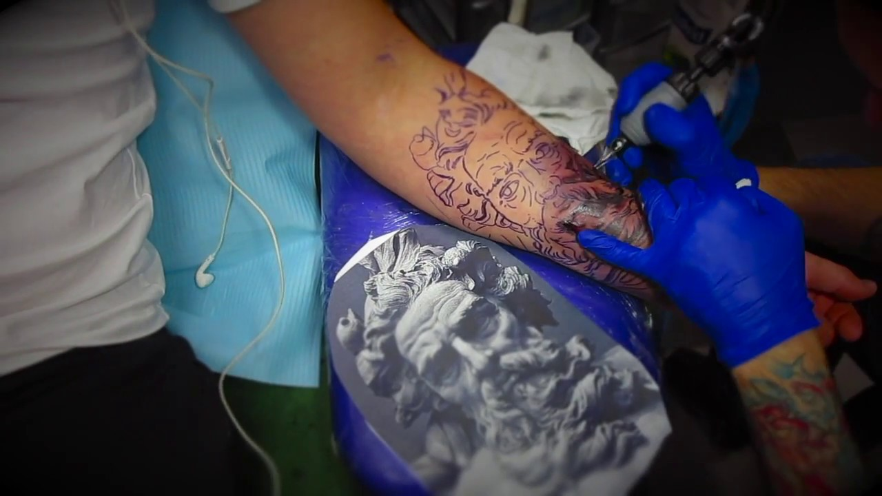 Zeus Tattoo Part One Basic Shading Only
