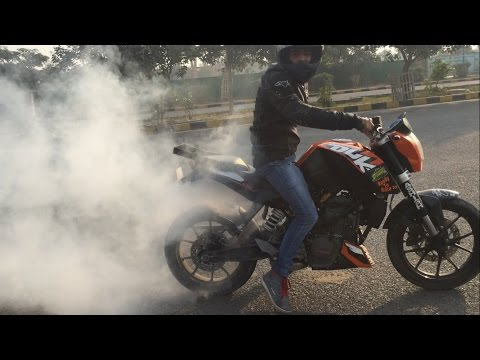 KTM Duke 200 New stunts Part 2  by Ashish Raghav