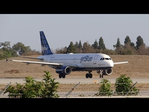 Long Beach Airport walking tour & jetBlue takeoff / California USA