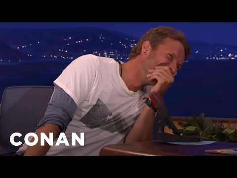 Chris Martin Loves His …No Matter What They Yell At Him   CONAN on TBS