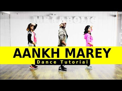 Aankh Marey Dance Tutorial | SIMMBA | Aankh Marey Easy Dance Choreography | FITNESS DANCE With RAHUL