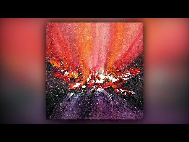 Easy Abstract Painting for Beginners  Palette Knife Technique  Demo #053