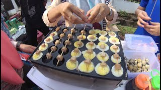 Indonesia Palembang Street Food 3686 Part.1 Sate Telor Sosis Kecil Kecik YDXJ0832