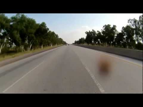 Islamabad to Lahore on Motorcycle via Motorway in HD - Part 2 of 7