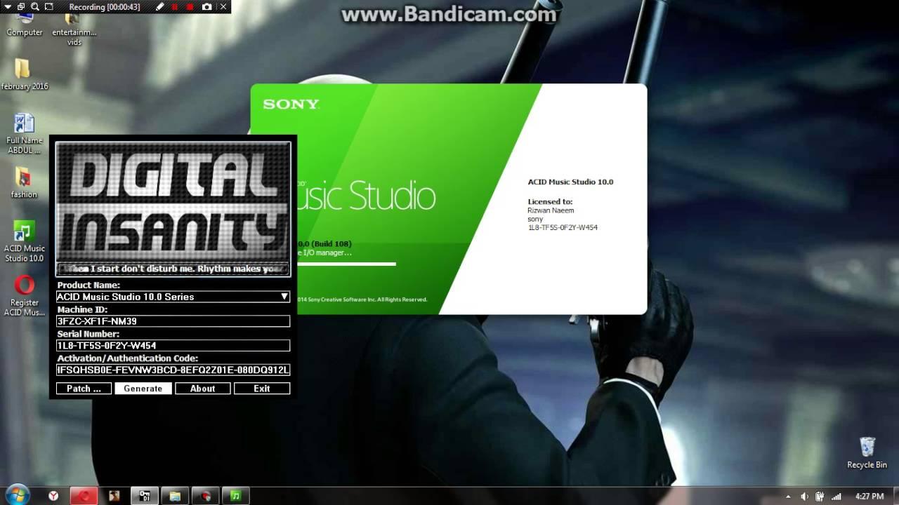 10 0: Acid Music Studio 10.0 Serial Number