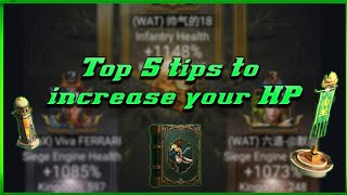 CLASH OF KINGS 5 Top Tips - To increase your HP