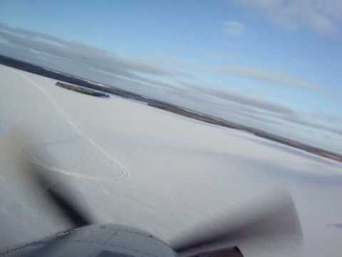 Turbo Beaver landing near Lynn Lake, Manitoba