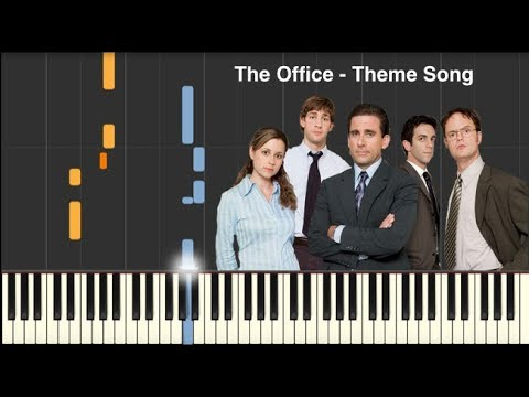the office theme song easy piano tutorial midi and sheets in description