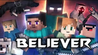 ♪Imagine Dragon - Believer | Animation Life (Minecraft Music Video)