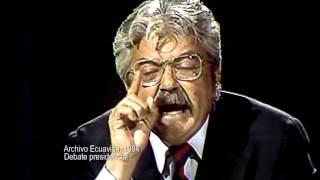Debate de Rodrigo Borja con León Febres Cordero