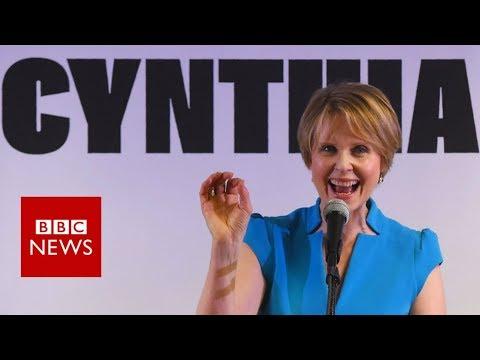 Cynthia Nixon holds rally in Brooklyn - BBC News