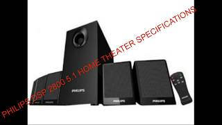 Philips Dsp 2800 5 1 Home Theater Specifications complete review