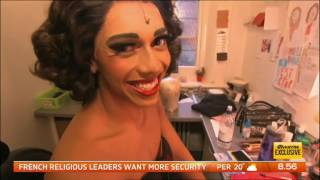 Channel Seven's Sunrise goes behind the scenes of KINKY BOOTS