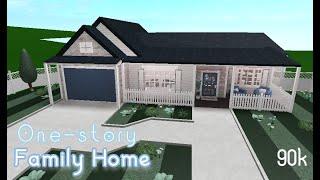 One Story Family Home!   No Gamepass   Bloxburg Builds