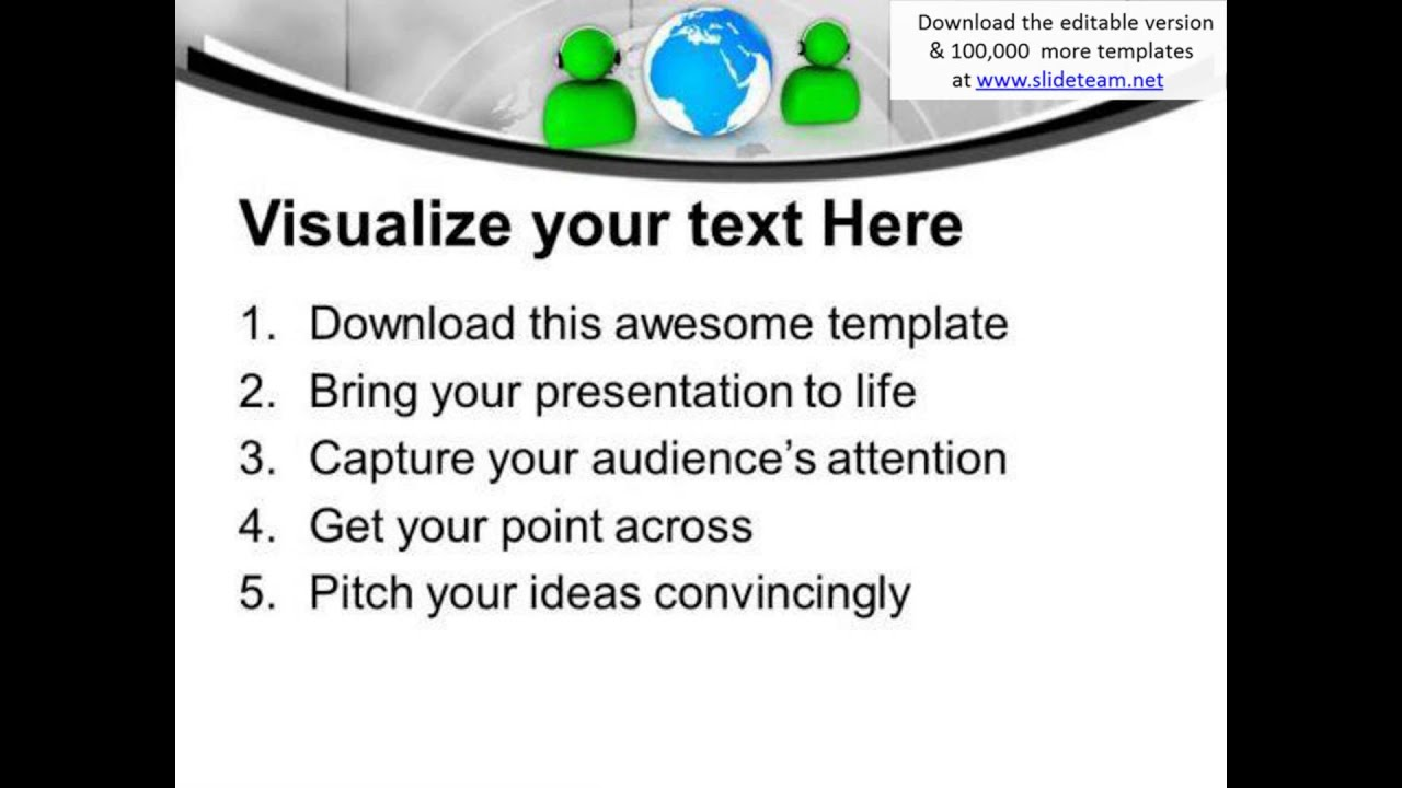 call center concept of global communications powerpoint