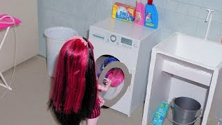 How to make Washing machine for doll (Monster High, EAH, Barbie, etc)