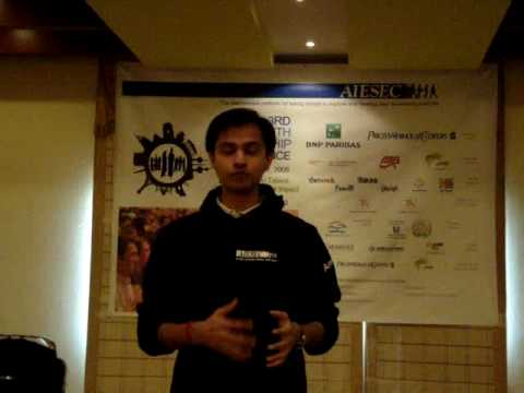 AIESEC GEN 2010 - Speech by PAI at Gulf Conference 2009