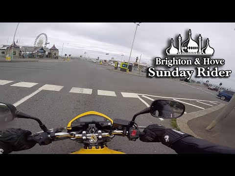Brighton Seafront by Motorcycle