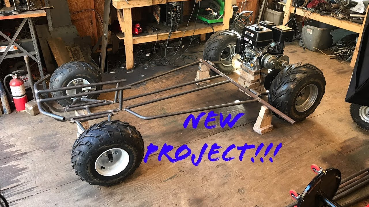 home made two speed off road go kart part 1 - YouTube