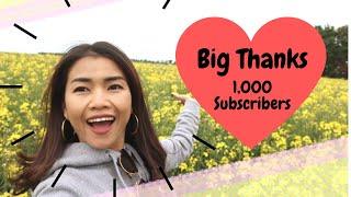 ขอบคุณ 1,000 Subscribes!!! พาเที่ยวทุ่งดอก Canola เลาะชนบทอังกฤษ และข้อตกลงการอยู่ร่วมกันของช่องค่ะ