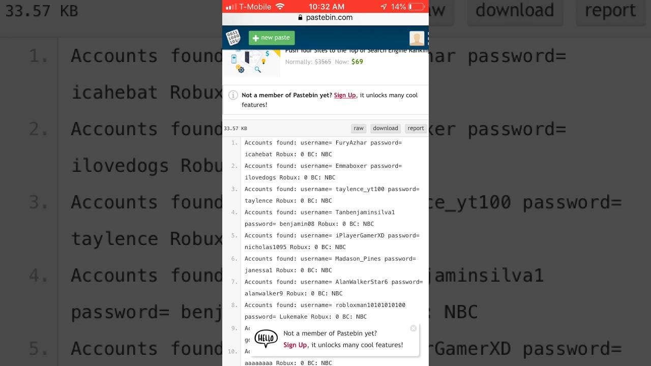 100 Free Working Roblox Account Dump 2019 Free Roblox Accounts