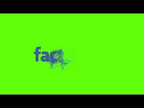 Facebook Logo Particle Reveal - HD Green Screen Effects - Downloadable