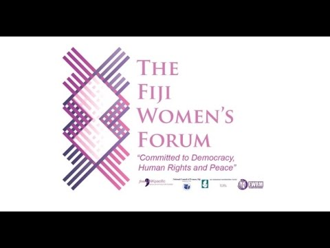 The Fiji Women's Forum: MOU Signing and Logo Launch Press Event (April 2017)