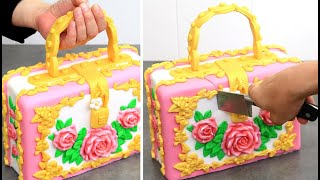 How To Make A Roses Bag Cake by Cakes StepbyStep