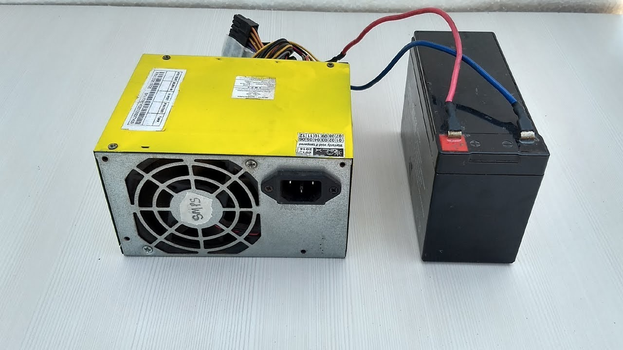 Computer Power Supply to Battery Charger DIY - YouTube