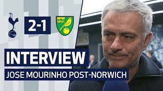 INTERVIEW | JOSE MOURINHO ON NORWICH VICTORY | Spurs 2-1 Norwich City