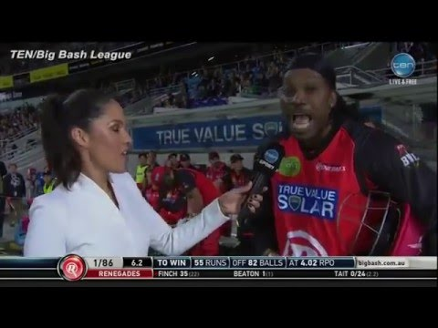 Cricketer asks out the Female Report in front of the national television