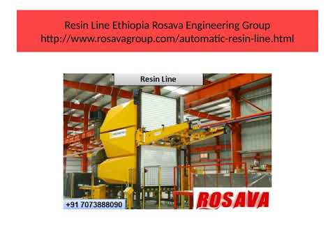 Resin Line Ethiopia Rosava Engineering Group