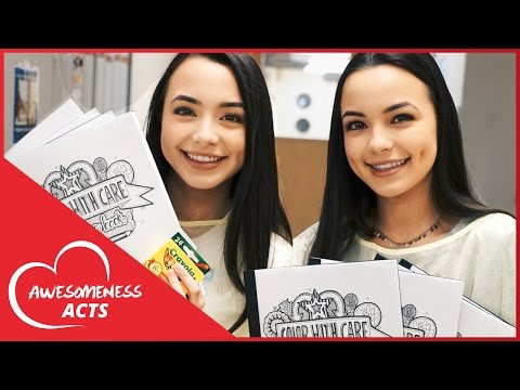 The Merrell Twins visit CHLA to Color with Care #GivingTuesday