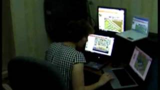 Mom Playing Farmville On Four Computers