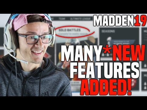 I PLAYED MADDEN 19 AND THERE'S A BUNCH OF NEW FEATURES COMING TO MUT!!