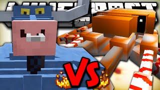 IRON WILL VS CRABZILLA - Minecraft Batalha de Mobs - Minecraft Mods