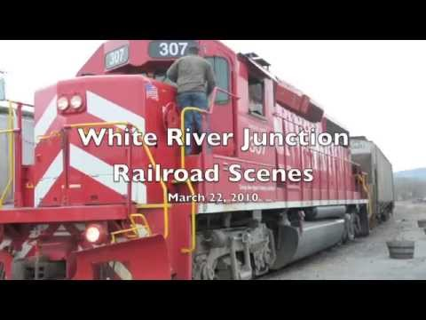 Vermont Railway, New England Central and Amtrak in White River Junction