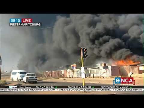 Pietermaritzburg on fire