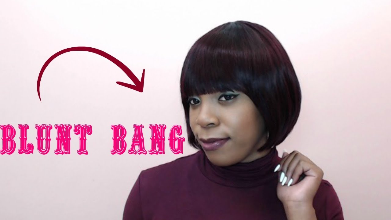 requested outre 100% human hair premium duby wig - blunt bang