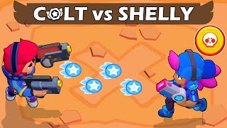 ⭐COLT vs SHELLY⭐ | 1vs1 | 30 Test | Brawl Stars