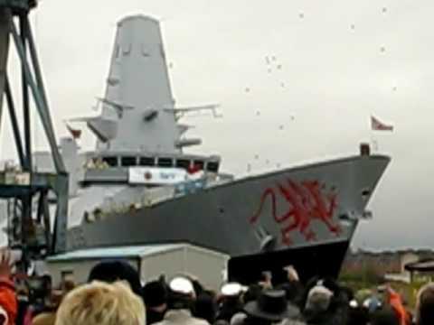 HMS Dragon (D35) Type 45 Destroyer Launch (2008)