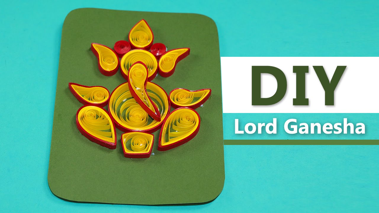 Lord ganesha diy handmade paper quilling greeting card design lord ganesha diy handmade paper quilling greeting card design m4hsunfo