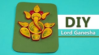 Lord Ganesha - DIY Handmade Paper Quilling Greeting Card Design