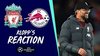 Klopp's reaction: Tactical changes, celebrating tackles & a lot to learn  | Liverpool vs Salzburg