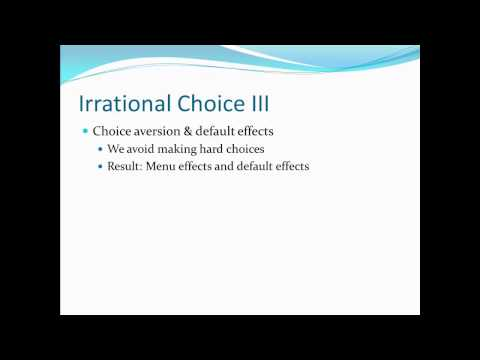 Principles of Microecon 20 Irrational Choice